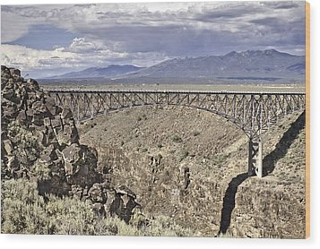 Rio Grande Gorge Bridge Wood Print by Melany Sarafis