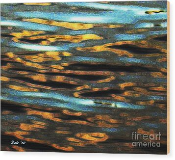 Ripples Wood Print by Dale   Ford