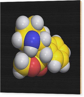 Ritalin Molecule Wood Print by Dr Tim Evans