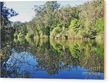 River Reflections Wood Print by Kaye Menner