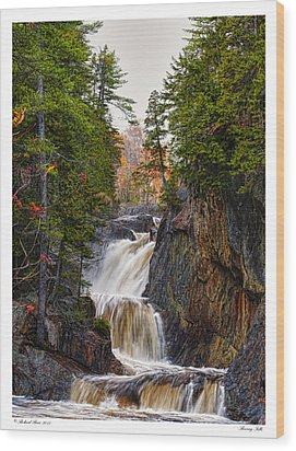 Wood Print featuring the photograph Roaring Falls by Richard Bean