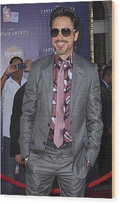 Robert Downey Jr. At Arrivals Wood Print by Everett