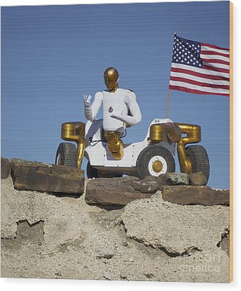 Robonaut 2 Poses Atop Its New Wheeled Wood Print by Stocktrek Images