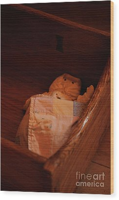 Rock-a-bye My Baby Wood Print by Linda Shafer