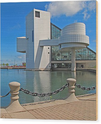 Rock And Roll Hall Of Fame Wood Print by Dave Mills