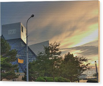 Rock And Roll Hall Of Fame Wood Print by David Bearden