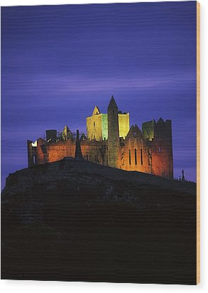 Rock Of Cashel, Co Tipperary, Ireland Wood Print by The Irish Image Collection