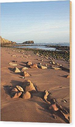 Rocks Wood Print by Svetlana Sewell