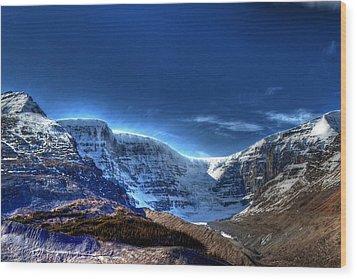 Rocky Mountains Wood Print by Dan S