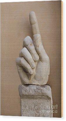 Rome Italy. Capitoline Museums Emperor Marco Aurelio Wood Print by Bernard Jaubert