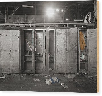 Roundhouse Lockers Wood Print by Jan W Faul