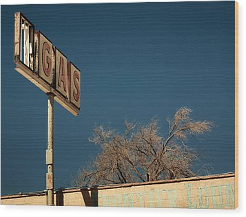 Route 66 Wood Print by Aurica Voss