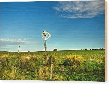 Rural Australia Wood Print by Imagevixen Photography