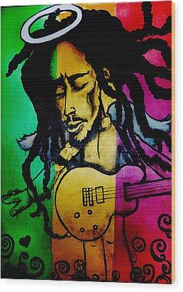 Saint Marley Wood Print by Asa Charles