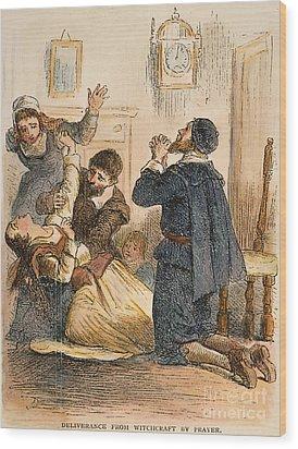 Salem Witchcraft, 1692 Wood Print by Granger