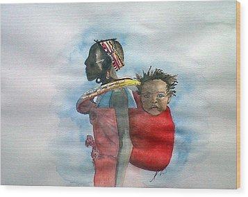Samburu Tribe IIi. Wood Print by Paula Steffensen