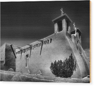 San Francisco De Asis Church Iv Wood Print by Steven Ainsworth