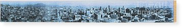 San Francisco Skyline Panorama 1909 From The Ferry Building Through South Of Market . Blue Wood Print by Wingsdomain Art and Photography