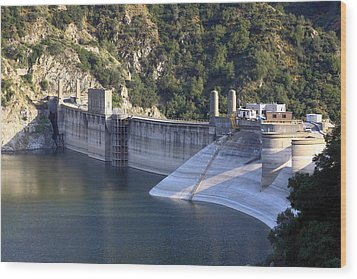 San Gabriel Dam Wood Print by Viktor Savchenko
