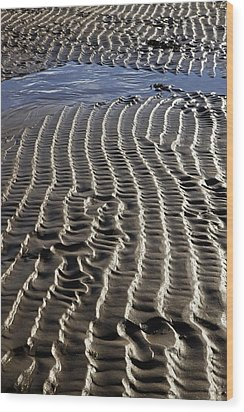 Sand Ripples At Low Tide Wood Print by Dr Keith Wheeler