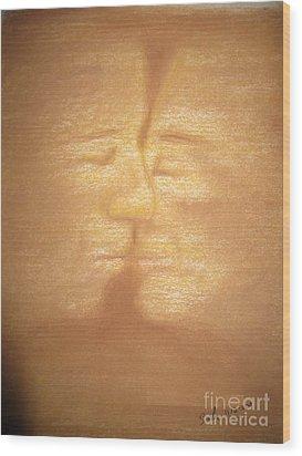 Sandstorm Wood Print by Safa Al-Rubaye