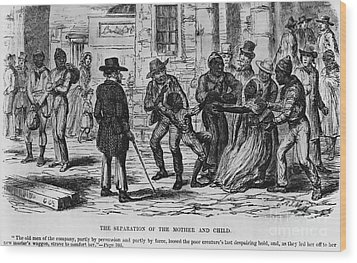 Scene From Uncle Toms Cabin Wood Print by Photo Researchers