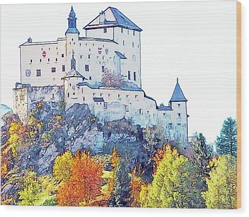 Schloss Tarasp Switzerland Wood Print by Joseph Hendrix