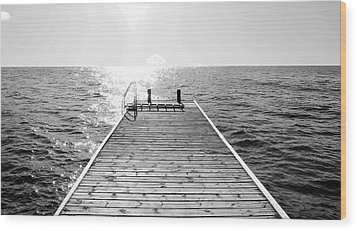 Sea Jetty Wood Print by Smallfort Photography Collection