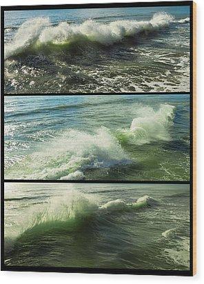 Sea Waves Wood Print by Svetlana Sewell