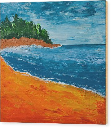 Wood Print featuring the painting Seascape by Judi Goodwin