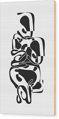 Wood Print featuring the digital art Seated Woman by Christine Perry