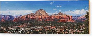 Sedona Red Rock Wood Print by Lisa  Spencer