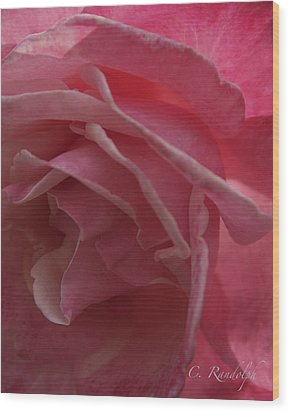 Wood Print featuring the photograph Seductive Blush by Cheri Randolph
