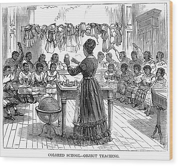 Segregated School, 1870 Wood Print by Granger