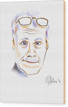 Self-portrait Wood Print by Kip DeVore