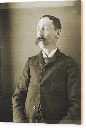 Self-portrait Of The Artist Wood Print by Jan W Faul
