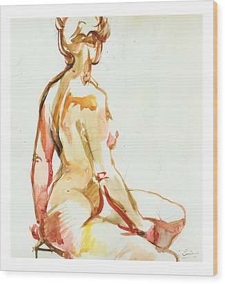 Seraphina Wood Print by Gerard Bimson