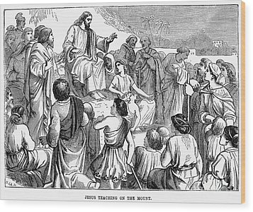 Sermon On The Mount Wood Print by Granger