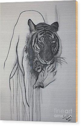 Shades Of Grey Wood Print by Sandi Dawn McWilliams