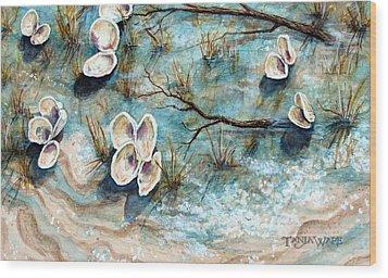 Shell Shadows Wood Print by Tanja Ware