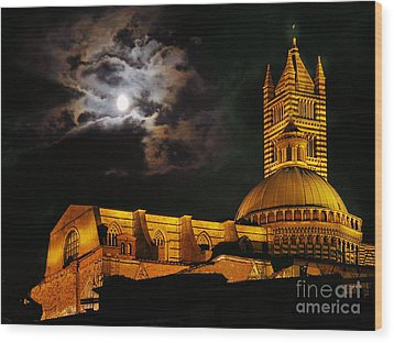 Siena Cathedral Wood Print by Jim Wright