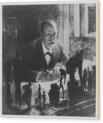 Sigmund Freud, Austrian Psychologist Wood Print by Humanities & Social Sciences Librarynew York Public Library
