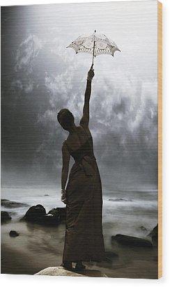 Silhouette Wood Print by Joana Kruse