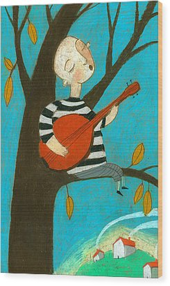 Singing Song Wood Print by Jenny Meilihove