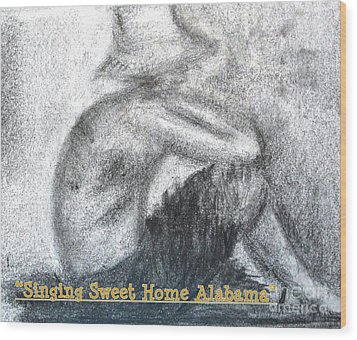 Singing Sweet Home Alabama Wood Print by Helena Bebirian
