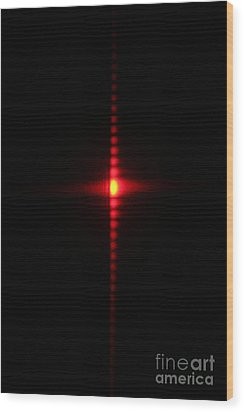 Single Slit Diffraction Wood Print by Ted Kinsman