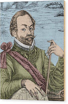 Sir Francis Drake, English Explorer Wood Print by Photo Researchers, Inc.