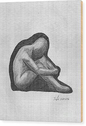 Sketch Wood Print by Safa Al-Rubaye