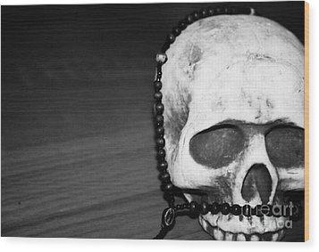 Skull 1 Wood Print