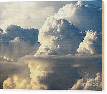 Sky Sky Wood Print by Yury Bashkin
